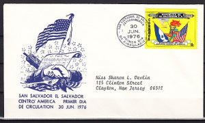Salvador, Scott cat. 870 only. American Bicentennial value. First day cover. ^