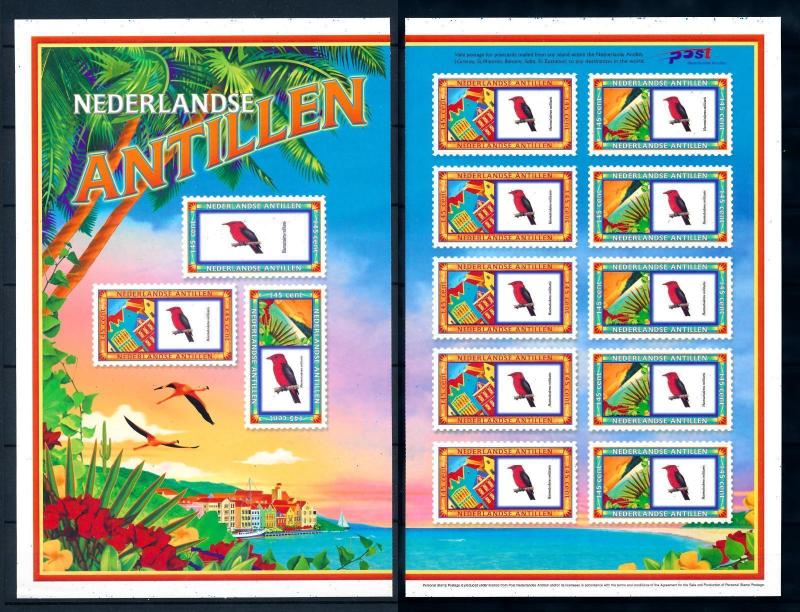 [95210] Netherlands Antilles 2004 Birds Cruise ship stamps Sheet in 2 Parts MNH
