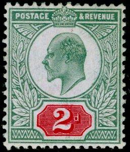 SG227 SPEC M12(-), 2d pale dull blue-green & carmine (C), NH MINT. HENDON CERT