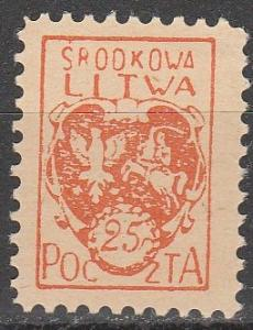 Central Lithuania #1 F-VF Unused   (S9028)