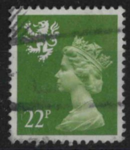 z330) Great Britain - Scotland. 1984. Used. SG S48 23p Yellowish-green. Royalty