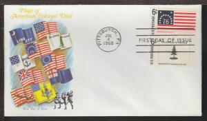US 1348-1349 Historic Flags 1968 Fleetwood U/A FDC