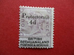 SG44 Victorian British Bechuanaland Protectorate 1855 4d on 4d Lilac & Black MM