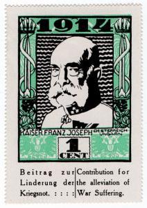 (I.B) US Cinderella : German War Charity 1c (1914) Kaiser Franz Josef