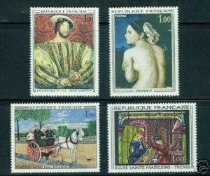 France  Scott 1172-5 MNH** Painting Set