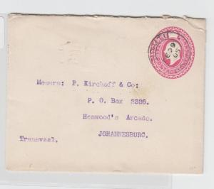 NATAL TO JO'BURG 1905 1d ENVELOPE, H&G#B4 (SEE BELOW)