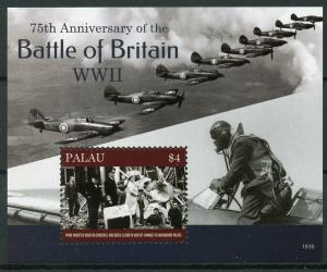 Palau 2015 MNH WWII WW2 Battle of Britain 75th 1v S/S Winston Churchill Stamps