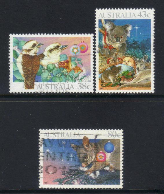 AUSTRALIA 1990 CHRISTMAS USED SET OF 3