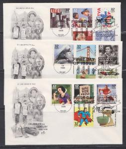 3185a-o Celebrate the Century ArtCraft FDCs