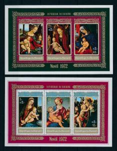 [99192] Burundi 1972 Christmas Paintings Madonna with Child  +2F 2 Sheets MNH