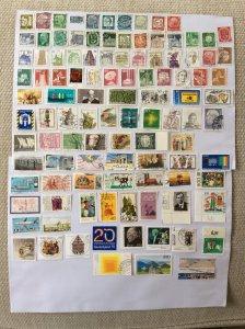 German 100+ stamps - Lot M