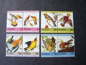 Tuvalu 1985 MNH Birds Audubon Mi.# 279/82