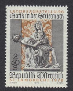 Austria 1978  MNH Gothic art in Styria  complete
