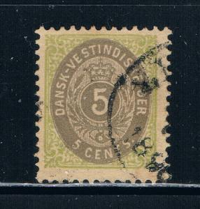 Danish West Indies 19 Used Numeral (D0025)