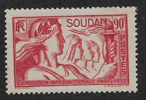 FRENCH SUDAN SC# 108  FVF/MNG  1937