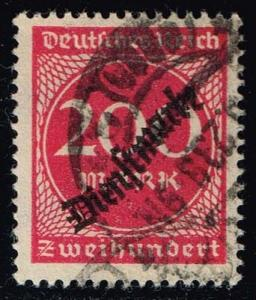 Germany #O25 Official - Numeral; CTO (0.25)