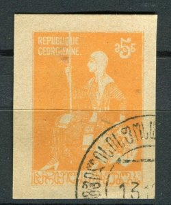 RUSSIA; 1920s Regional GEORGIA issue fine used Imperf 5R. value,