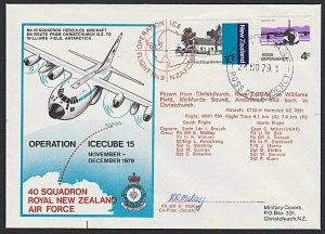 NEW ZEALAND ROSS DEPENDENCY 1979 signed flight cover ex Scott Base..........H715