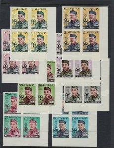 1962 Afghanistan Boy Scout Imperf blocks