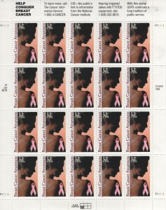 USA, 3081, MNH, 1996 Breast cancer awareness