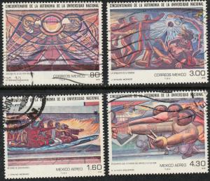 MEXICO 1183-84, C609-10 Autonomy of the Nat University. USED. F-VF. (444)