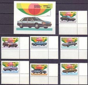 Madagascar. 1993. 1404-10, bl206. Cars. MVLH.