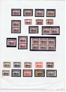 CENTRAL LITHUANIA 1920 POSTAGE DUE COLLECTION WITH ERRORS