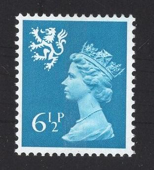 Great Britain Scotland  #SMH7   6 1/2p   MNH Q E II   Machin