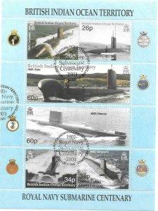 2001    BRITISH INDIAN OCEAN TERRITORY -  SG. 247 / 252 SHEETLET  -   USED