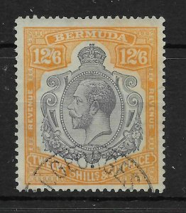 BERMUDA SGF1 1937 12/6 GREY & ORANGE REVENUE STAMP USED