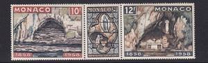 Monaco  #416a-418a  MNH  1958  strip of three  Virgin Mary Lourdes