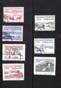 Greenland 112-118  VF, Postally Used, Complete Set, CV $8.95 ...2510045