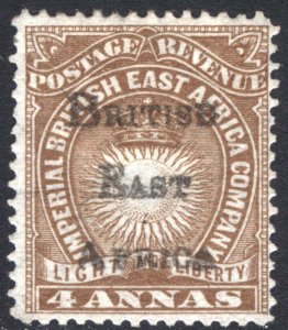 KUT-BEA 1895 4a Yell Brown Light & Liberty BEA SG 38 Sc 43 LMM/MLH Cat £65($87)