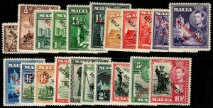 MALTA SG234-48, 1948 COMPLETE SET, UNMOUNTED MINT. Cat £90.