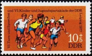 Germany(DDR). 1977 10pf +5pf S.G.E1957 Unmounted Mint