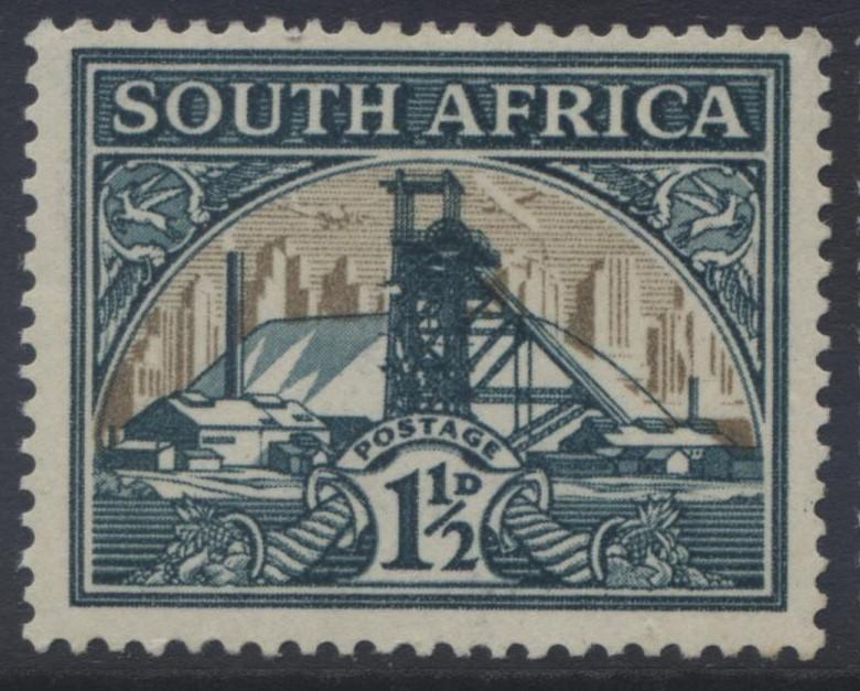SOUTH AFRICA - Scott 52 - Gold Mine -1941- MVLH -Single - 1/12p Stamps