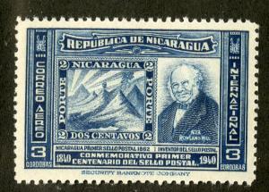 NICARAGUA C256 MH SCV $22.50 BIN $9.00 STAMPS ON STAMPS