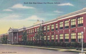 USA Indiana Fort Wayne South Side High School Curteich PostCard