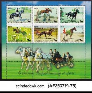UZBEKISTAN - 1999 HORSE / ANIMALS / SPORTS - MINIATURE SHEET MNH