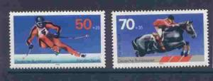 Germany B547-8 MNH - Sports, Skiing, Equestrian Horse