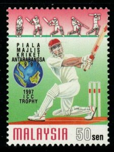 MALAYSIA SG639a 1997 50s CRICKET COUNCIL TROPHY PERF 13½ MNH