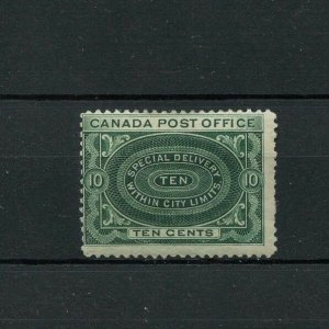 E1 Special Delivery Fine MH hinge remnant Cat $60  Canada mint