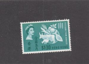 HONG KONG LOT REFKK(878) # 218 VF-MLH FREEDOM FROM HUNGER CAT VALUE $47.50