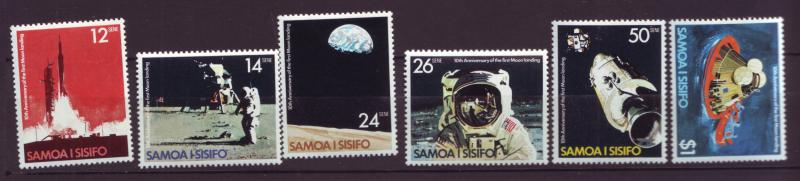 J19661 Jlstamps 1979 samoa set mnh #507-12 space