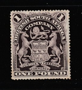 Rhodesia a MNG 1 pound from 1898