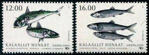 HERRICKSTAMP NEW ISSUES GREENLAND Sc.# 788-89 Nordic Fish 2018