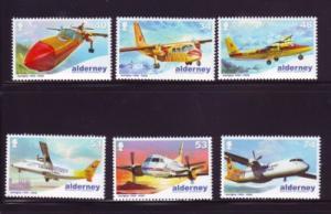 Alderney Sc 332-7 2008 Aurigny Air Services stamps mint NH