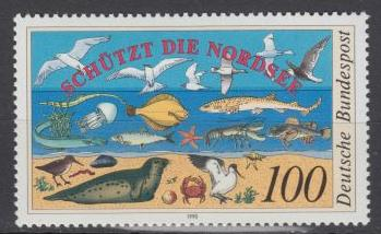 Germany - 1990 Fauna in Nordsea protection - MNH (1486)