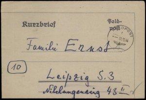 3rd Reich Germany 1944 Kriegsmarine Navy South Jutland Command Feldpost C G59727