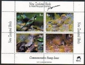 NEW ZEALAND 1990s Geoff Moon Birds cinderella sheet x 10 MNH...............79146